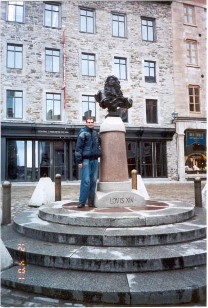 Виль-де-Квебек. Автор с Луи-XIV, кopoлeм Фpaнции. Первые годы эмиграции